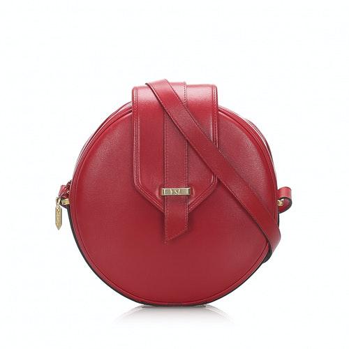 Saint Laurent Red Leather Handbag