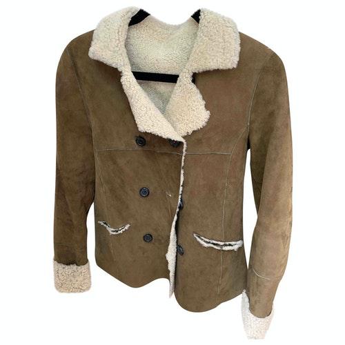 Swildens Khaki Leather Jacket