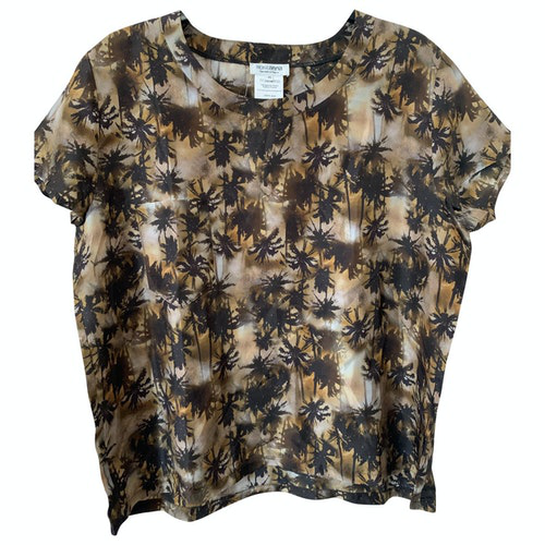 Roseanna Camel Silk  Top