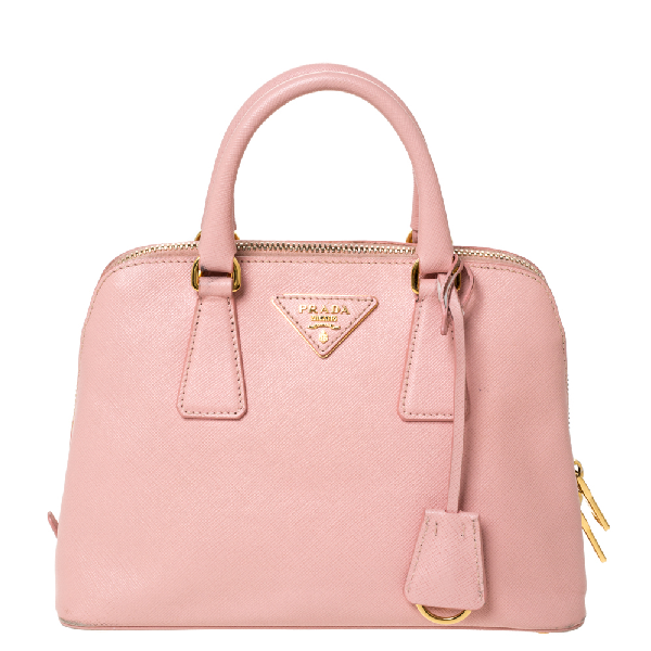 Prada Light Pink Saffiano Leather Small Promenade Satchel