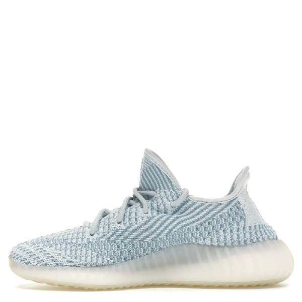 Adidas Originals White Yeezy 350 Cloud Sneakers Size 43