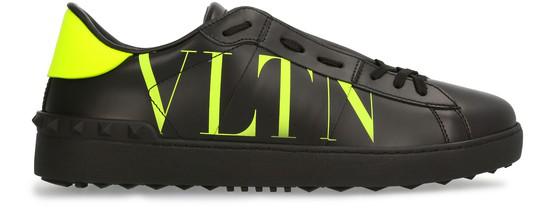 Valentino Garavani Open Vltn Print Sneakers In Black