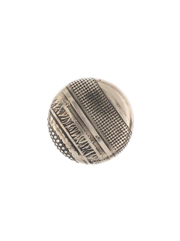Werkstatt:münchen Textured Brooch In Silver