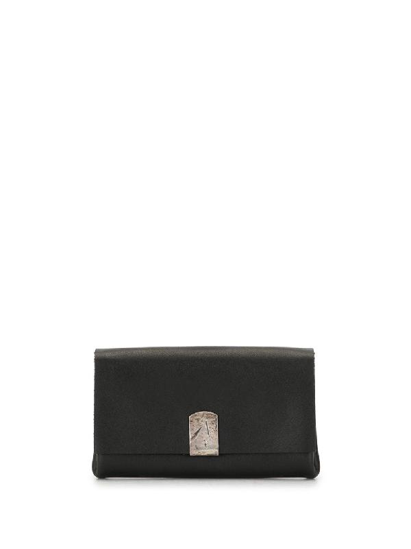 Werkstatt:münchen Hammered Detail Wallet In Black