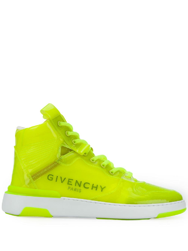 Givenchy 'wing Transparent' High-top-sneakers In Yellow