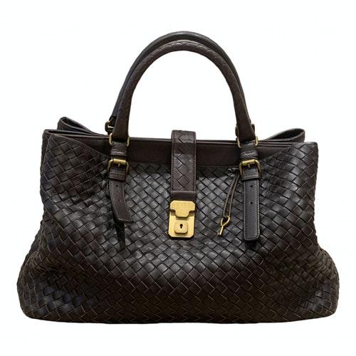 Bottega Veneta Roma Brown Leather Handbag