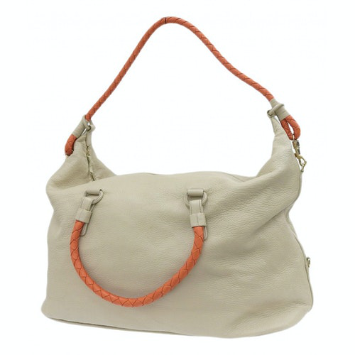 Bottega Veneta Beige Leather Handbag