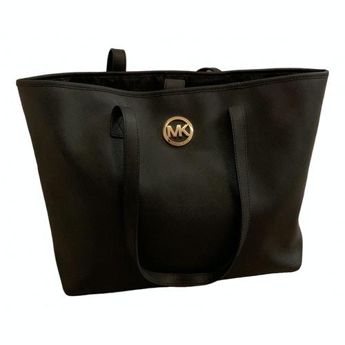 Michael Kors Jet Set Black Leather Handbag