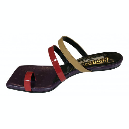 Yuul Yie Red Leather Sandals