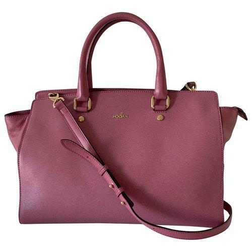 Hogan Pink Leather Handbag