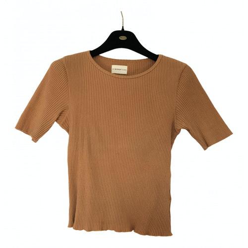 Simon Miller Orange Cotton  Top