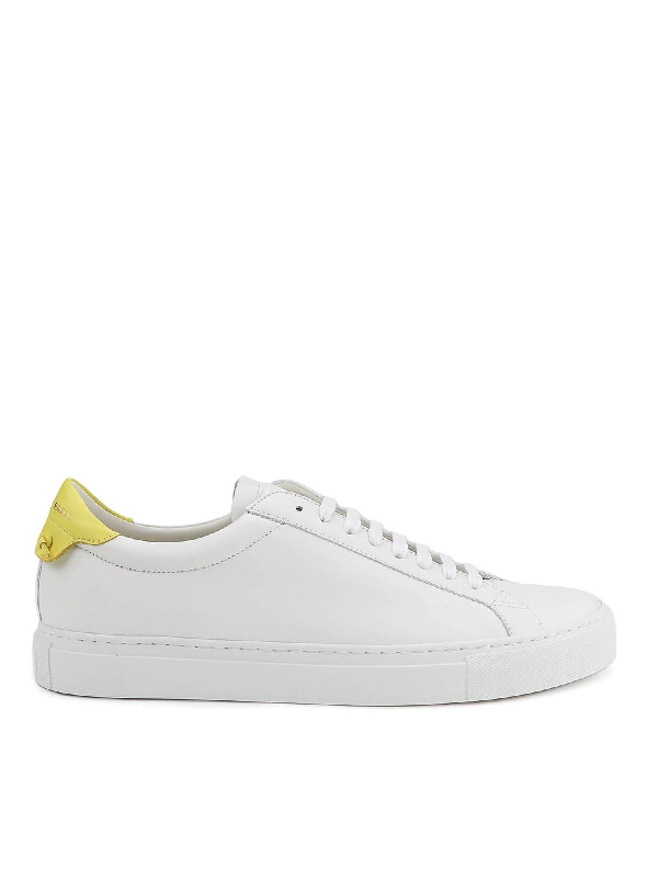 Givenchy White And Yellow Urban Street Sneakers