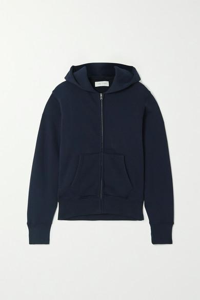 Les Tien Cotton-jersey Hoodie In Navy