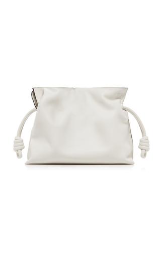 Loewe Flamenco Nappa Leather Clutch In Soft White