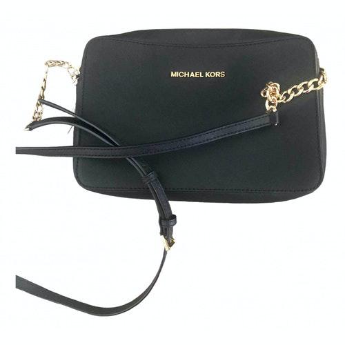 Michael Kors Cindy Black Leather Handbag