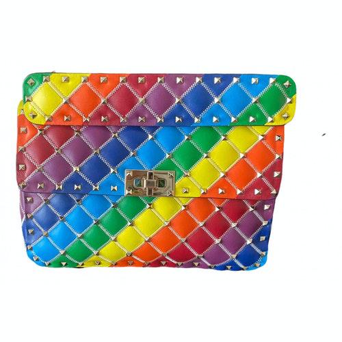 Valentino Garavani Rockstud Spike Multicolour Leather Handbag