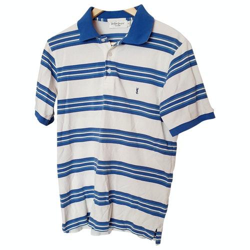 Saint Laurent White Cotton Polo Shirts