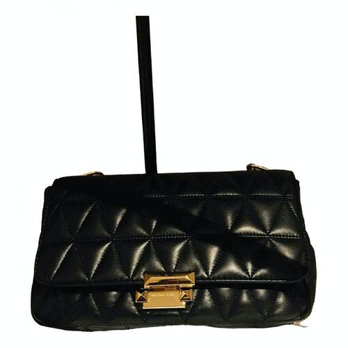 Michael Kors Sloan Black Leather Handbag