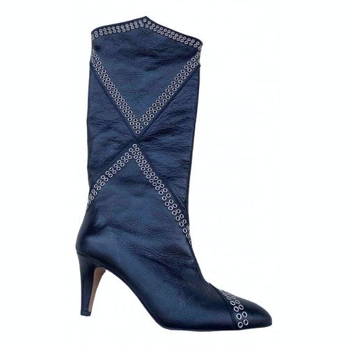 Isabel Marant Lahia Black Leather Boots