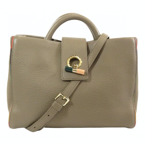 Paul Smith Grey Leather Handbag