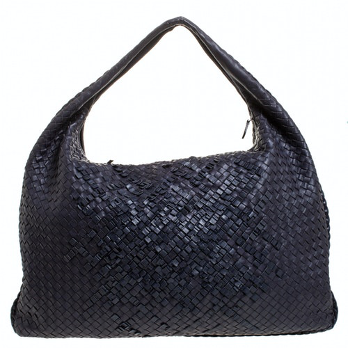 Bottega Veneta Purple Leather Handbag