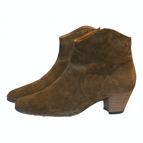 Isabel Marant Dicker Brown Suede Ankle Boots