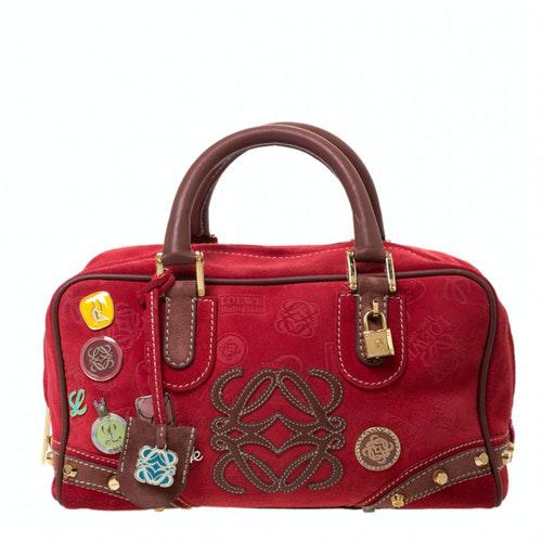 Loewe Amazona Multicolour Suede Handbag
