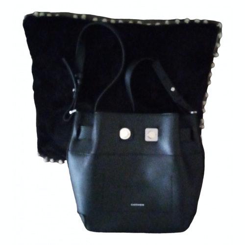 Carven Black Leather Handbag