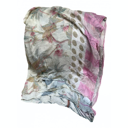 Pierre-louis Mascia Beige Cotton Scarf
