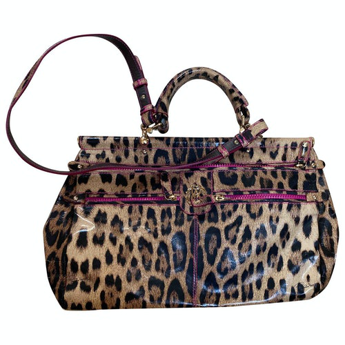 Roberto Cavalli Brown Handbag