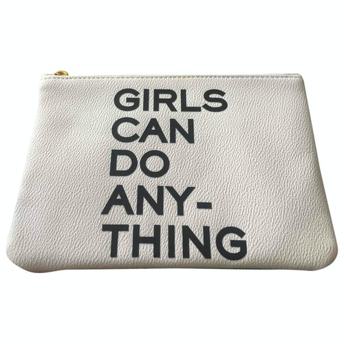 Zadig & Voltaire White Leather Clutch Bag