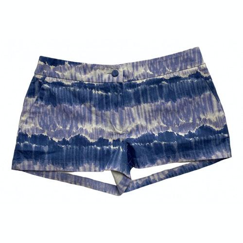 Luisa Beccaria Blue Cotton Shorts
