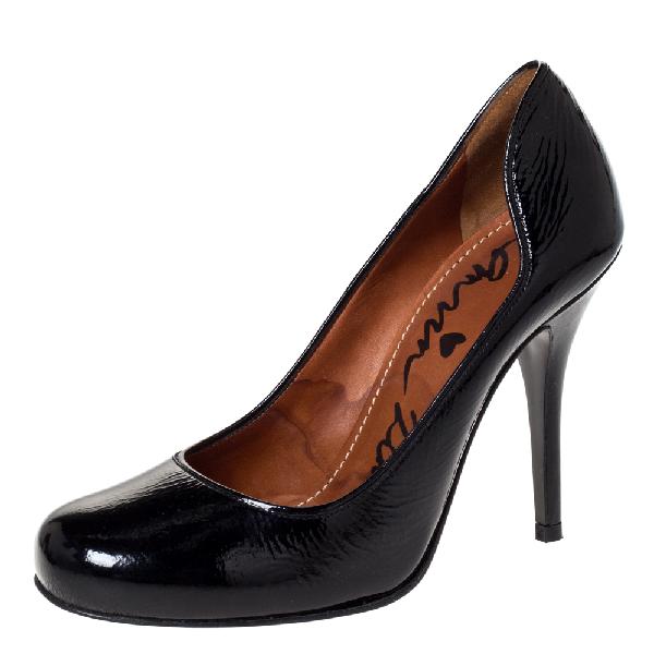 Lanvin Black Patent Leather Pumps Size 37