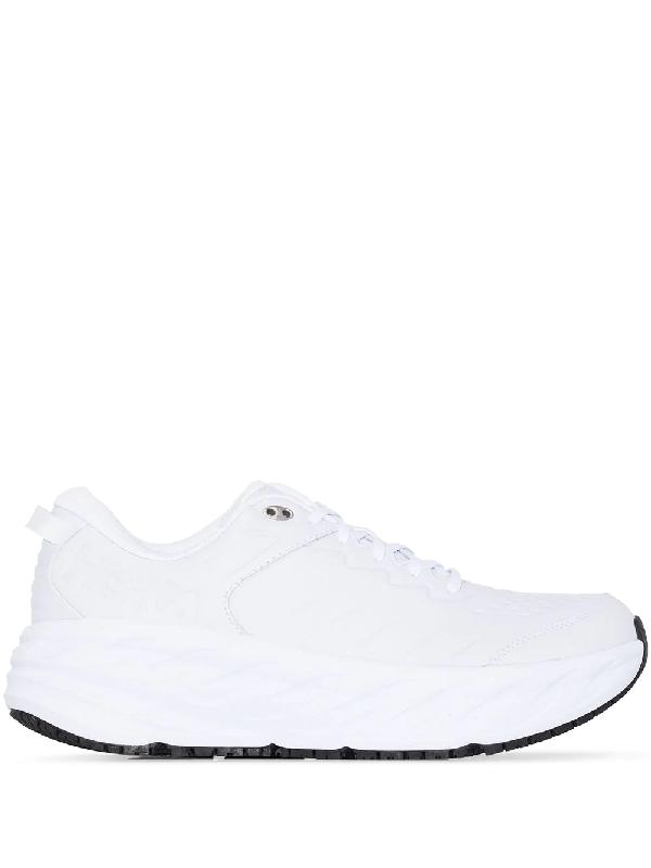 Hoka One One White Bondi Sr Sneakers