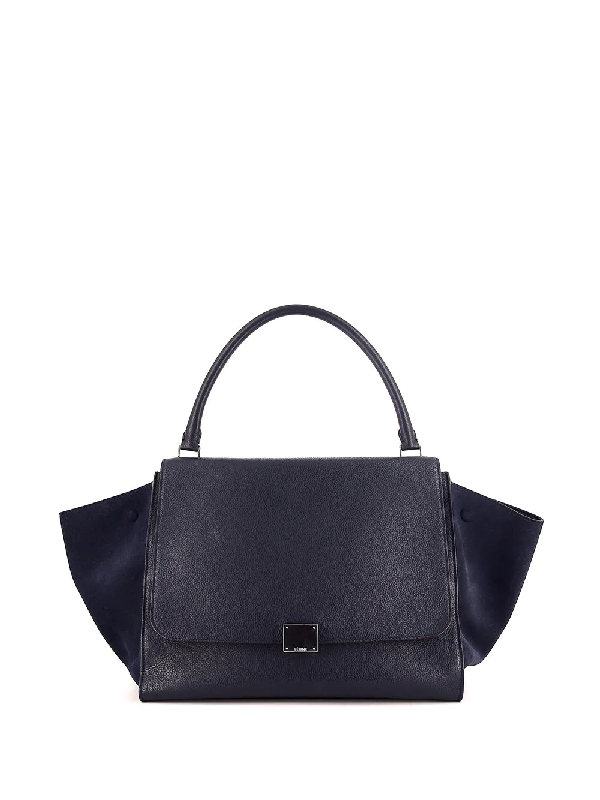 Celine Pre-owned Large Trapeze Tote Bag In Blue