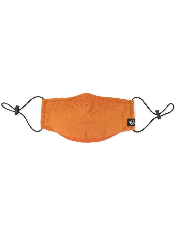 Mostly Heard Rarely Seen Quilted Face Mask In Orange