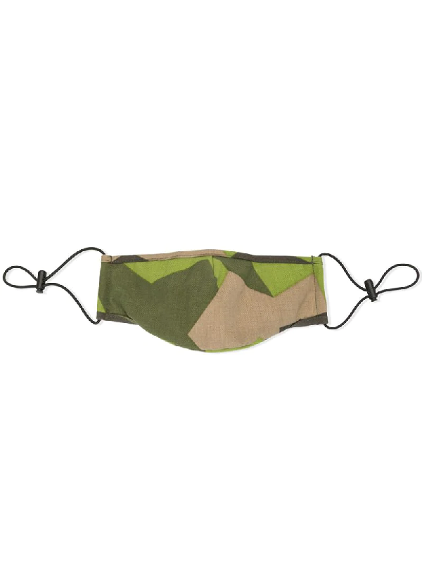 Mostly Heard Rarely Seen Camouflage Print Face Mask In Green