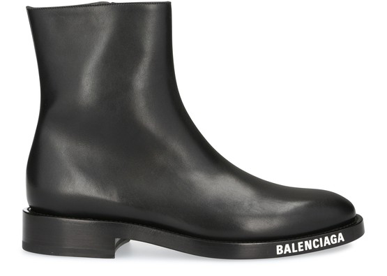Balenciaga Soft Evening Leather Chelsea Boot In 1000 Black