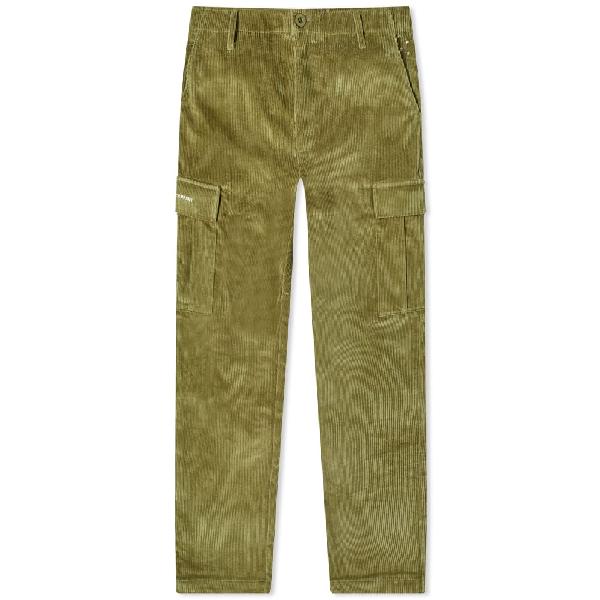 Pop Trading Company Pop Trading Company Corduroy Cargo Pant In Green