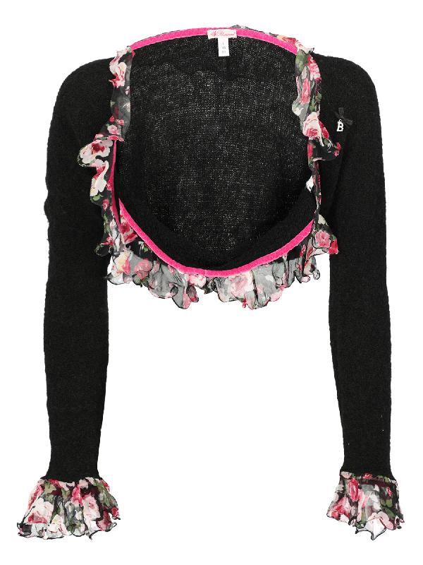 Blumarine Knitwear & Sweatshirts In Black, Pink