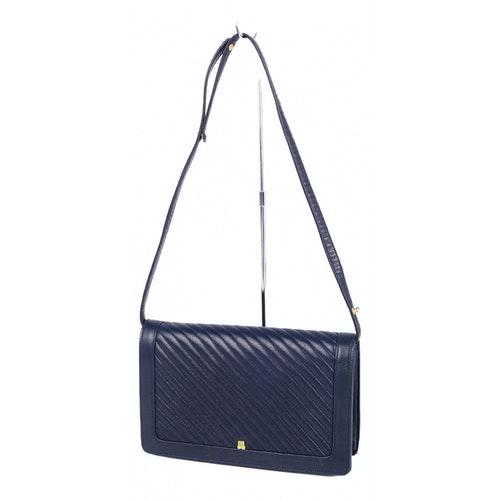 Lanvin Navy Leather Handbag