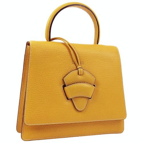 Loewe Yellow Leather Handbag