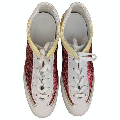 Hogan White Glitter Trainers