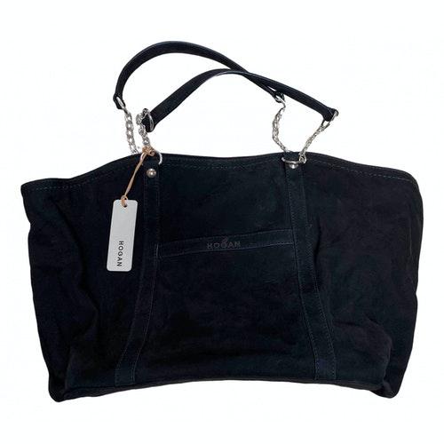 Hogan Black Suede Handbag