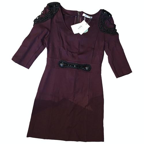 Pierre Balmain Burgundy Dress