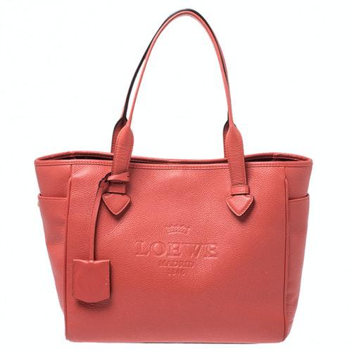 Loewe Orange Leather Handbag