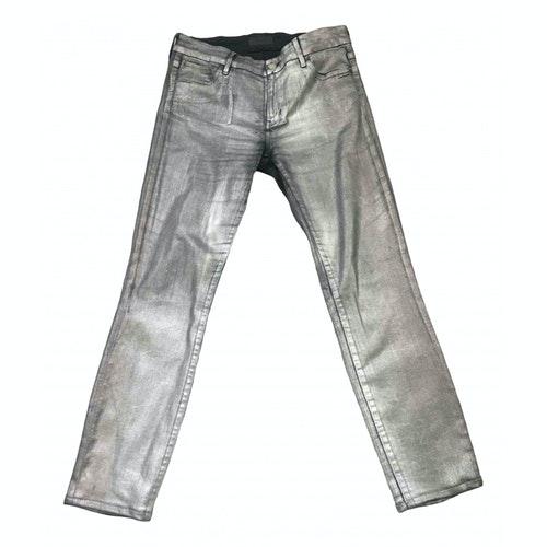 Koral Silver Cotton Jeans
