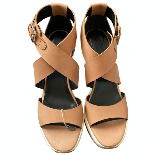 Hogan Camel Leather Sandals
