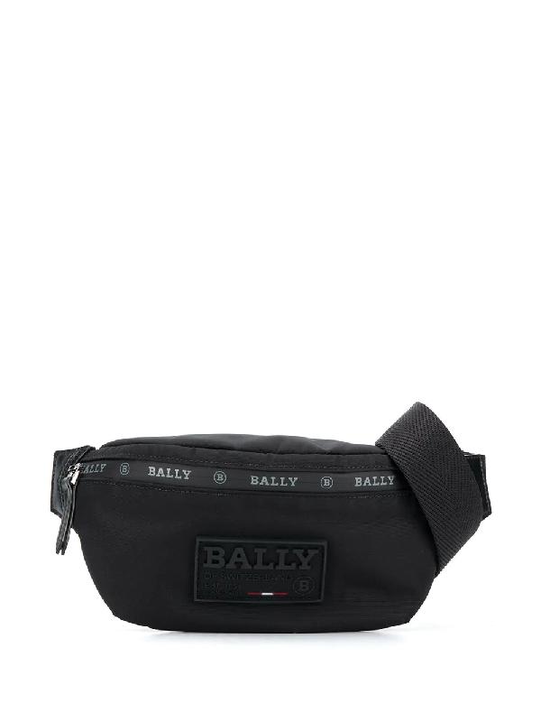 Bally Logo Patch Belt Bag In Black
