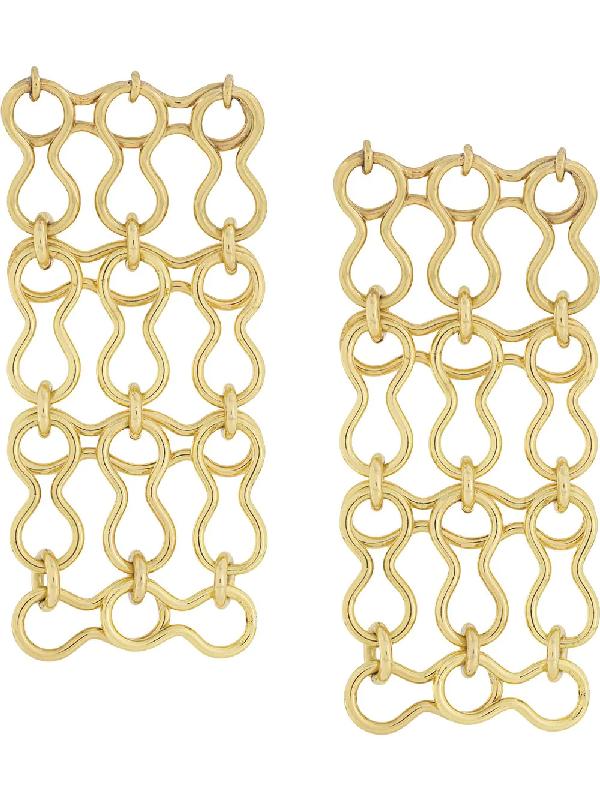 Ellery Chain-link Earrings In Gold